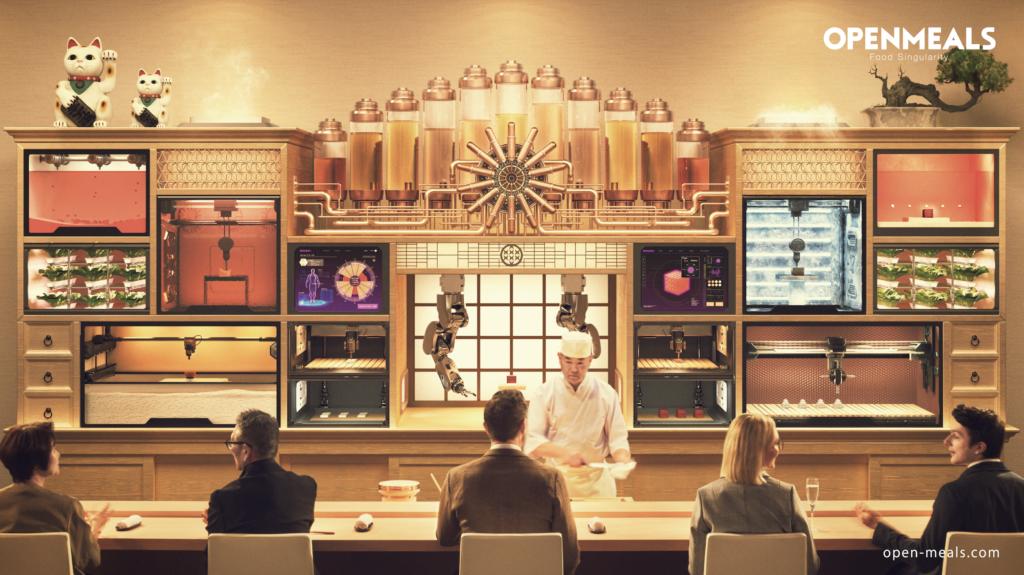 未来型レストラン